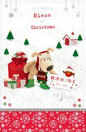 Boofle Lovely Niece Christmas Greeting Card