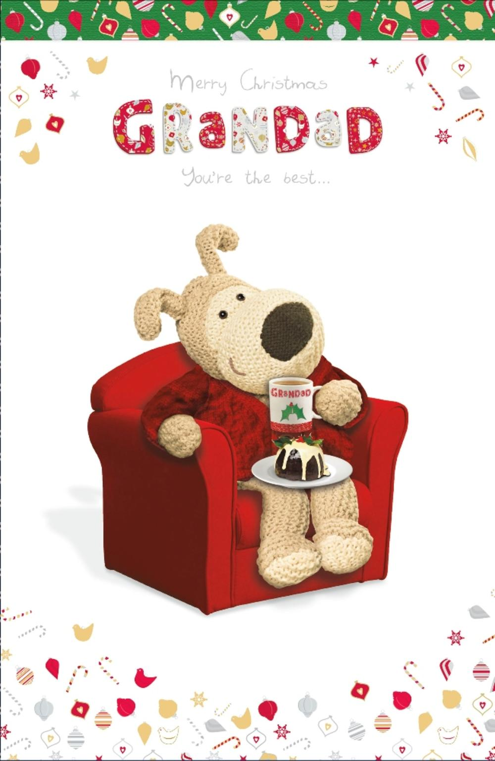 Boofle Grandad Merry Christmas Greeting Card