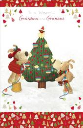 Boofle Grandma & Grandad Christmas Greeting Card