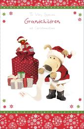 Boofle Special Grandchildren Christmas Greeting Card