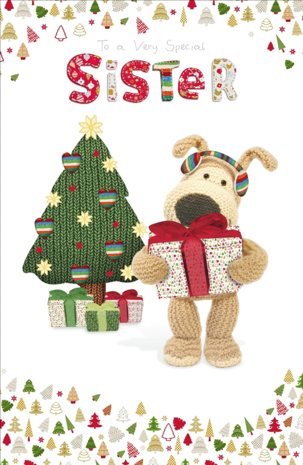 Boofle Special Sister Christmas Greeting Card
