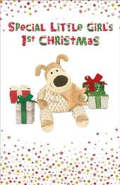 Boofle Girl's 1st Christmas Greeting Card