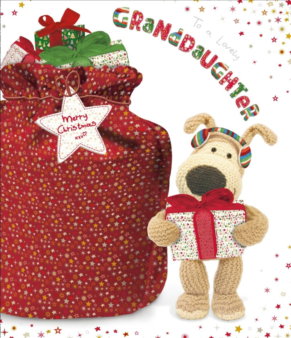 Boofle Lovely Granddaughter Christmas Greeting Card
