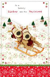 Boofle Sister & Her Boyfriend Christmas Greeting Card