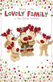 Boofle Lovely Family Christmas Greeting Card