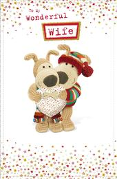 Boofle Wonderful Wife Christmas Greeting Card