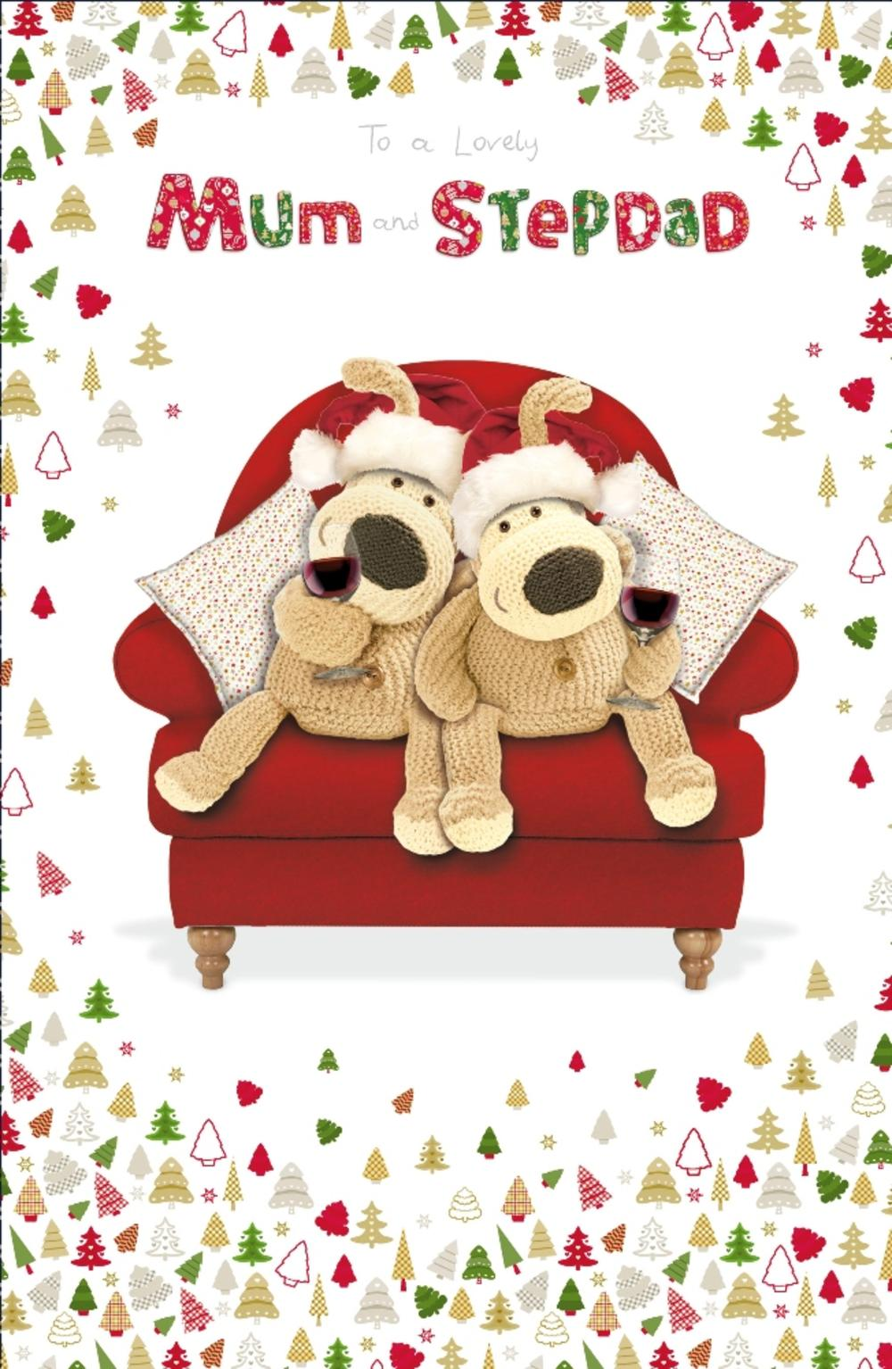 Boofle Mum & Stepdad Christmas Greeting Card
