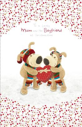 Boofle Mum & Her Boyfriend Christmas Greeting Card