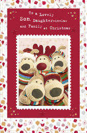 Boofle Son Daughter-In-Law & Family Christmas Card