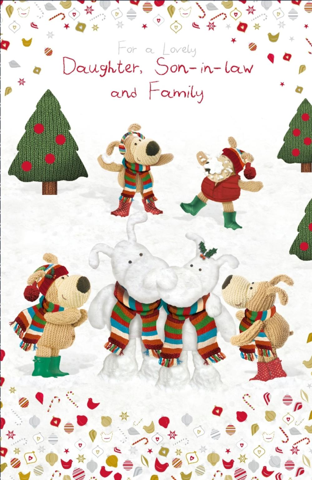 Boofle Daughter Son-In-Law & Family Christmas Card