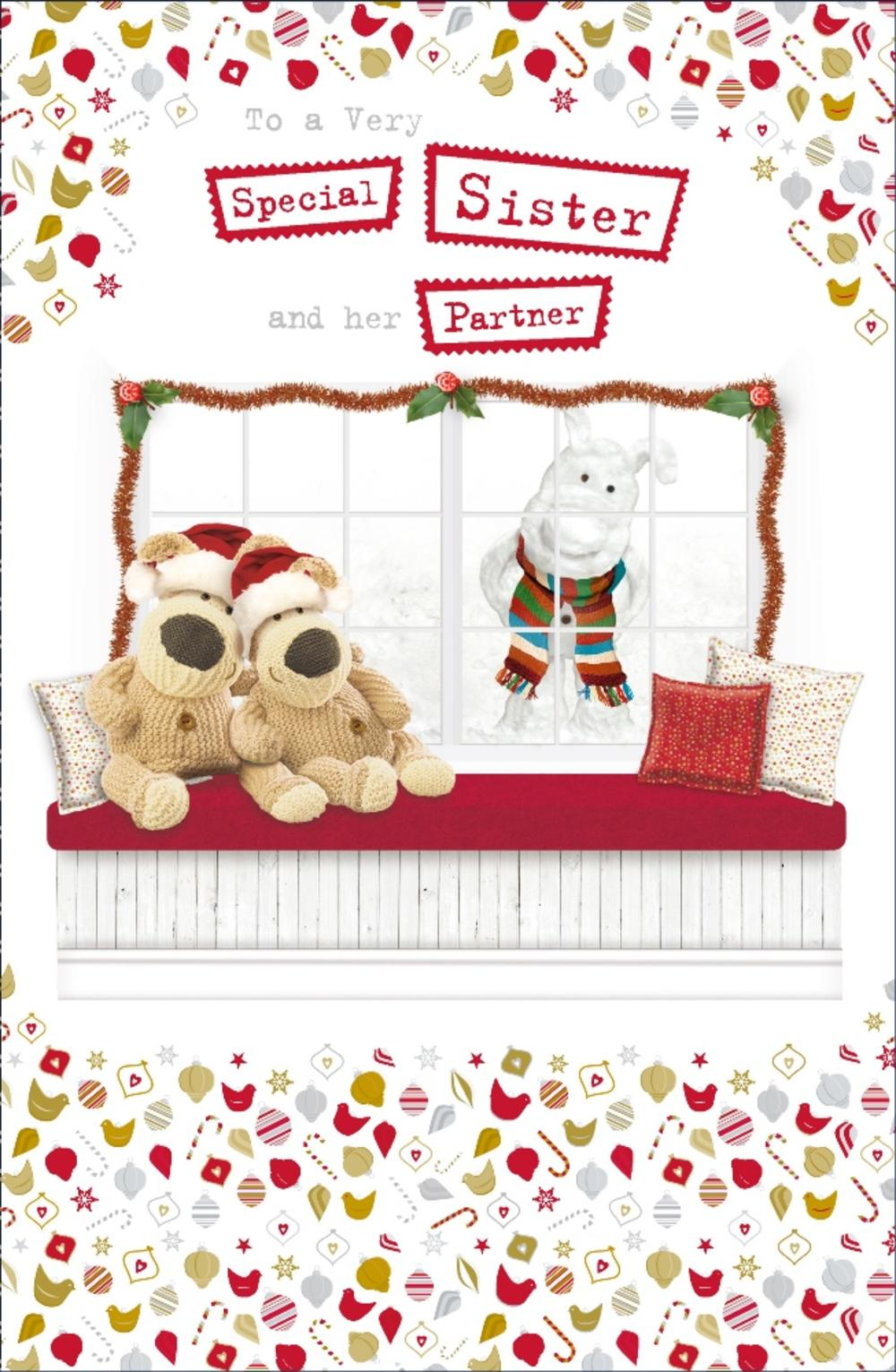 Boofle Special Sister & Partner Christmas Greeting Card