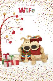 Boofle Gorgeous Wife Embellished Christmas Greeting Card