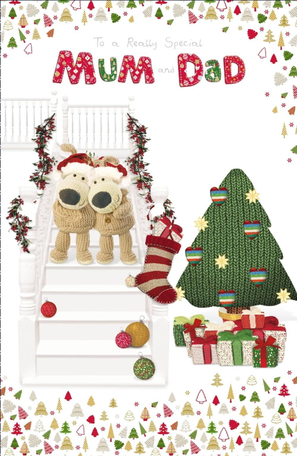 Boofle Mum & Dad Embellished Christmas Greeting Card