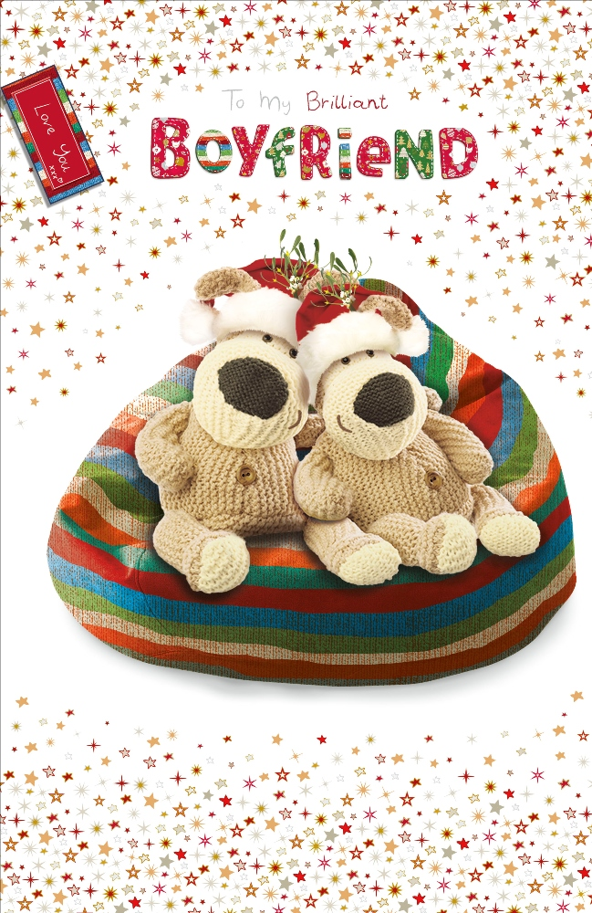 Boofle Special Godson Christmas Greeting Card Foiled Xmas Cards