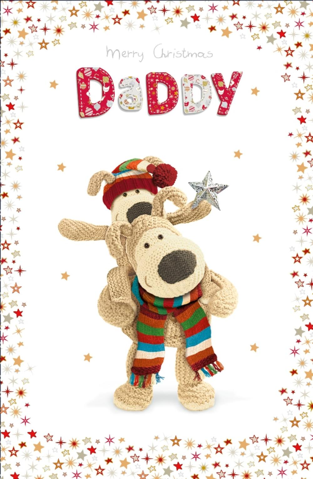 Boofle Daddy Merry Christmas Greeting Card