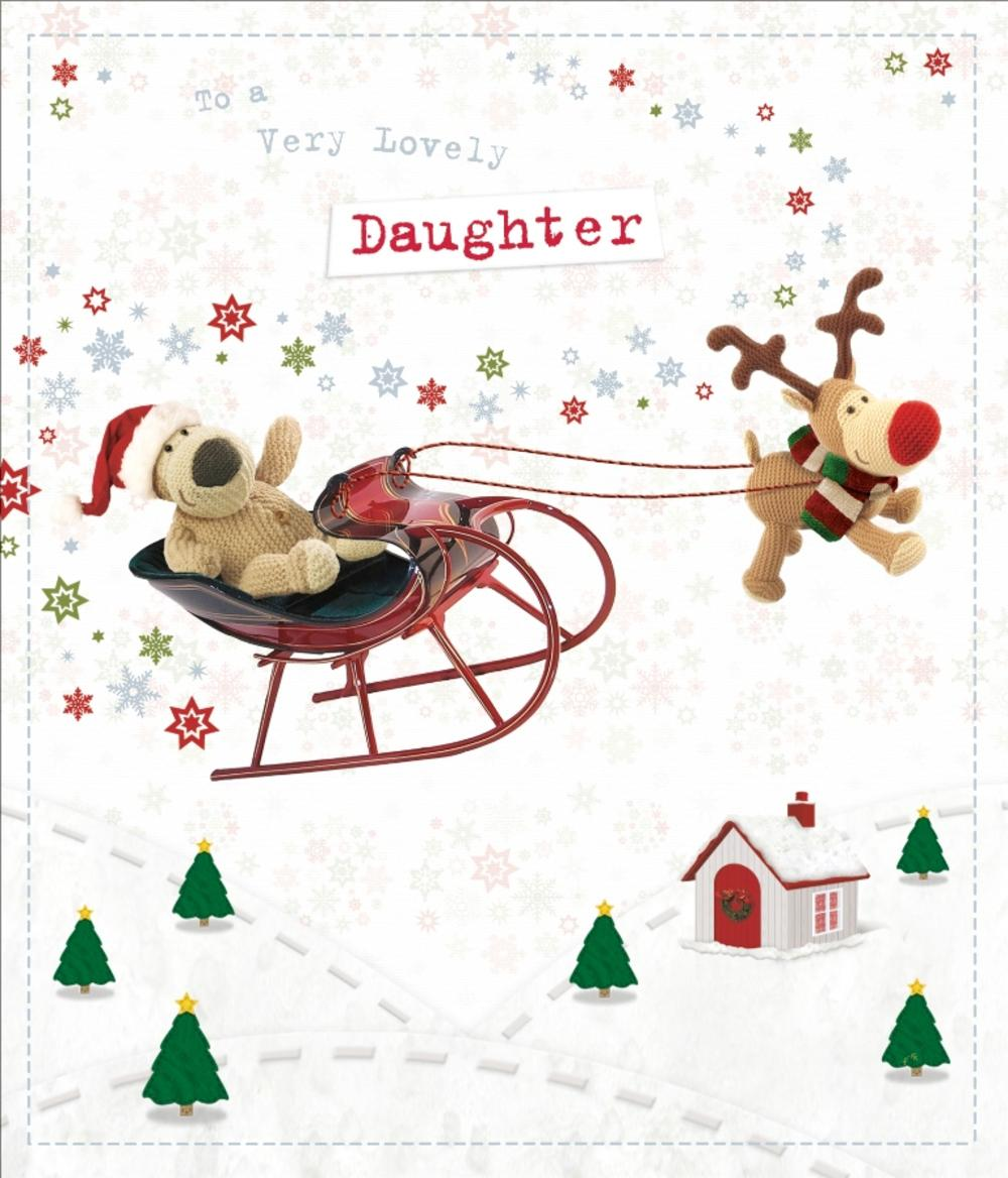 Boofle Lovely Daughter Christmas Greeting Card