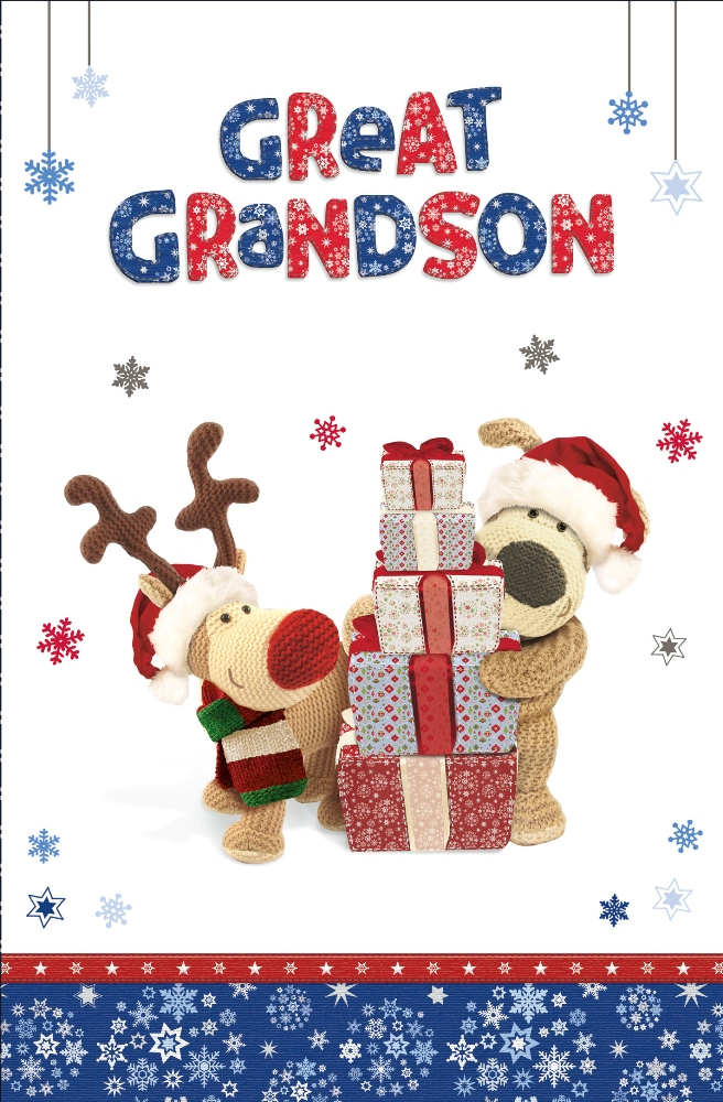 Boofle Great Grandson Christmas Greeting Card Cards