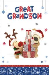 Boofle Great Grandson Christmas Greeting Card