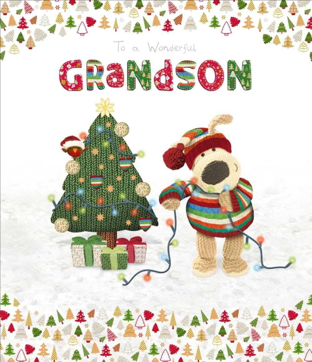 Boofle Wonderful Grandson Christmas Greeting Card