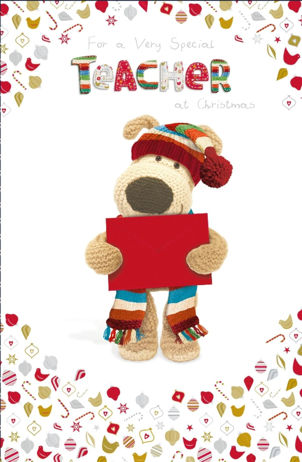 Boofle Special Teacher Christmas Greeting Card