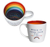 When It Rains Look For Rainbows Inside Out Mug In Gift Box