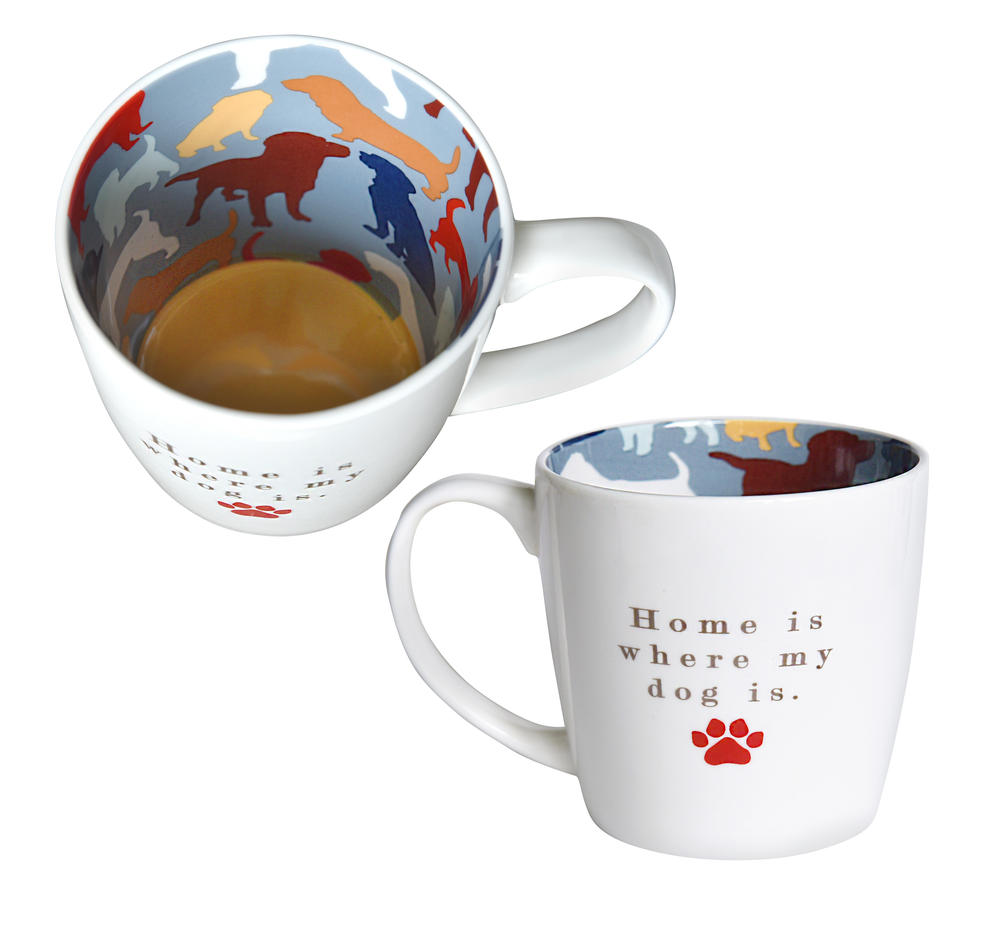 Home Is Where My Dog Is Inside Out Mug In Gift Box