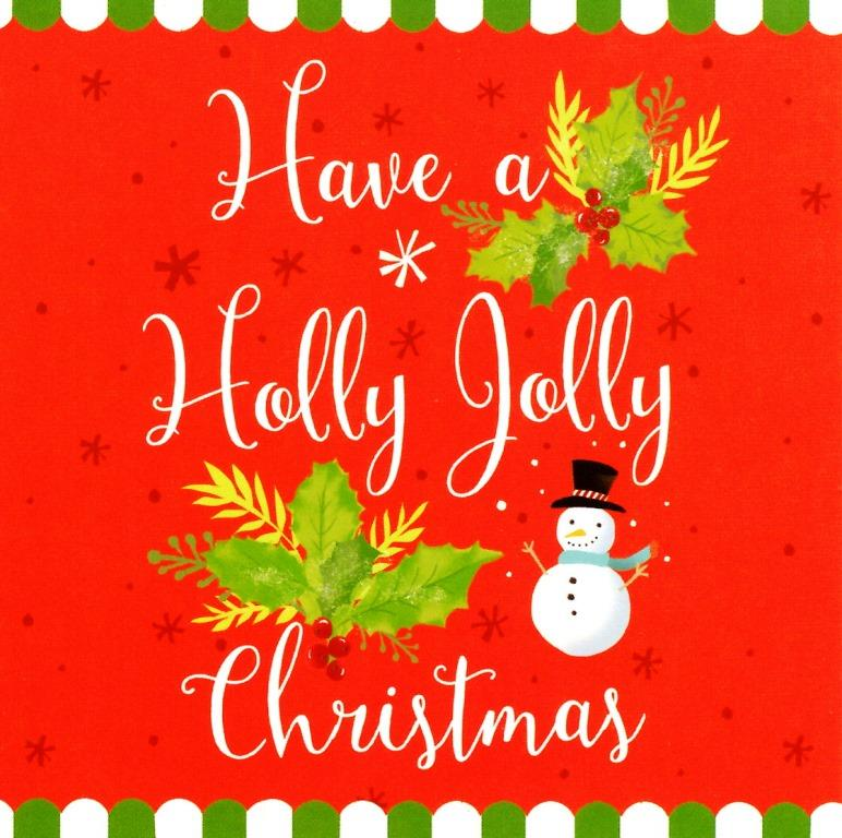 Pack Of 16 Mini Holly Jolly Christmas Cards Cards