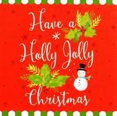 Pack of 16 Mini Holly Jolly Christmas Cards