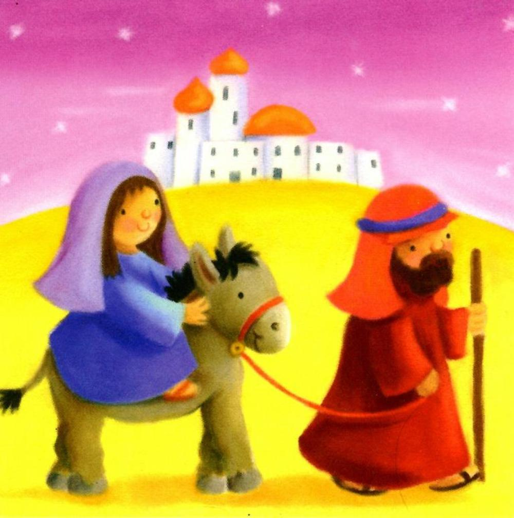 Pack of 16 Mini Mary & Joseph Christmas Cards