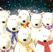 Pack of 16 Mini Polar Bear Christmas Cards
