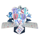 Best Dad Happy Father's Day Pop-Up Greeting Card