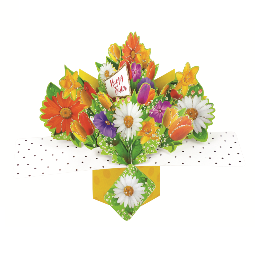 Happy Easter Pop-Up Flowers Greeting Card