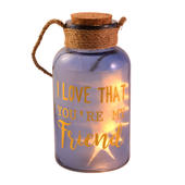 Friend Blue Light Up Illuminated Jar With Rope