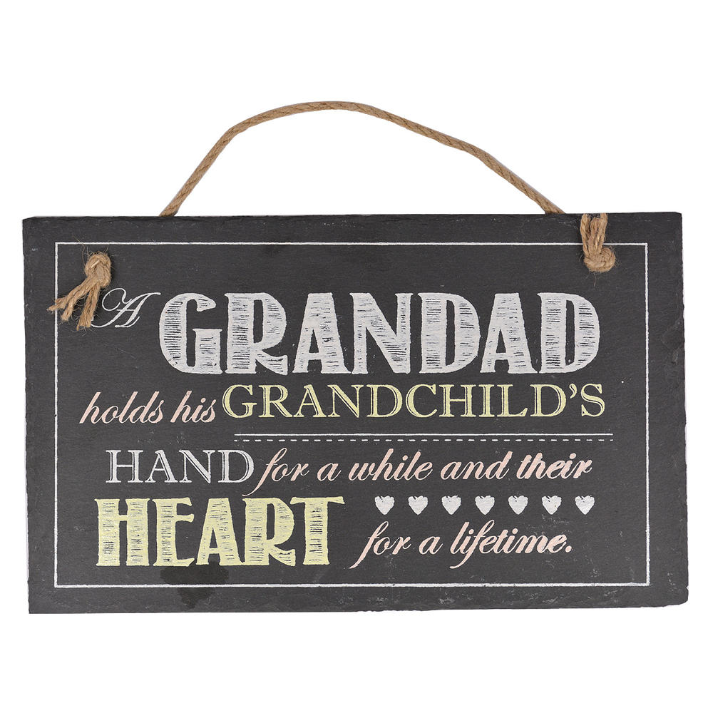 Grandad Hanging Slate Plaque Sign