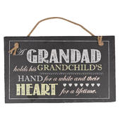Grandad Hanging Slate Plaque Sign