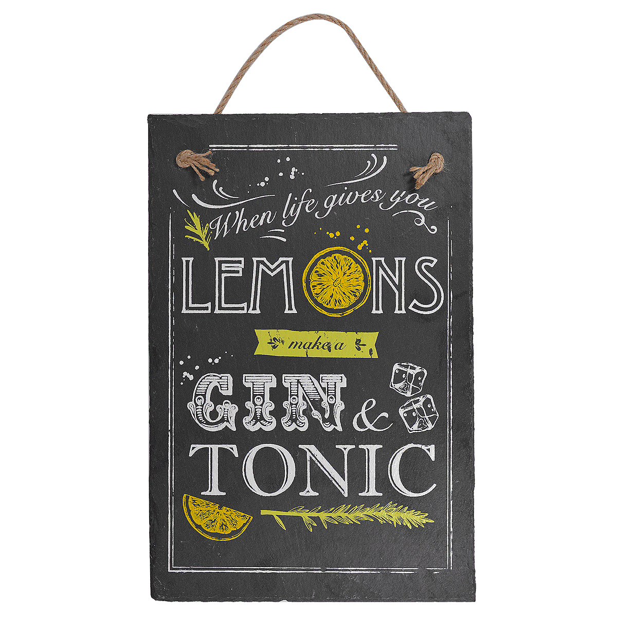 When Life Gives You Lemons Hanging Slate Plaque Gifts Love Kates