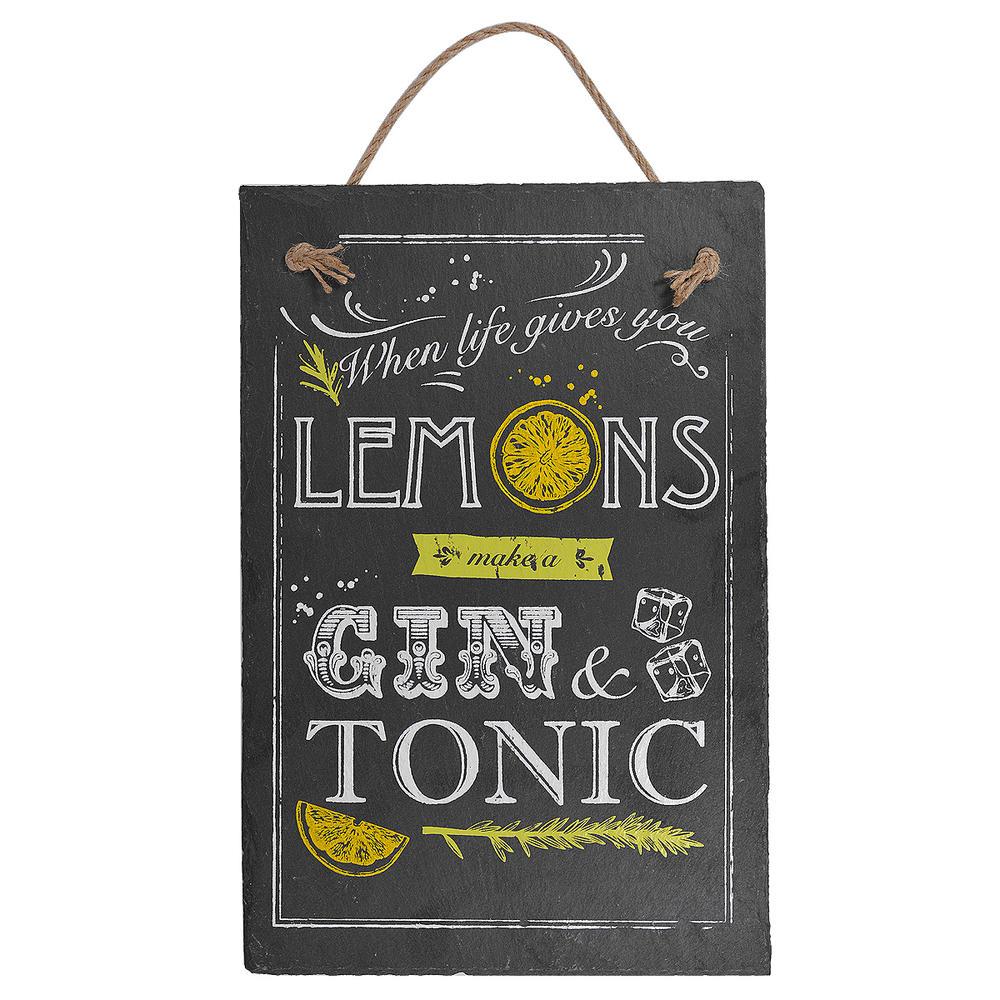 When Life Gives You Lemons Hanging Slate Plaque