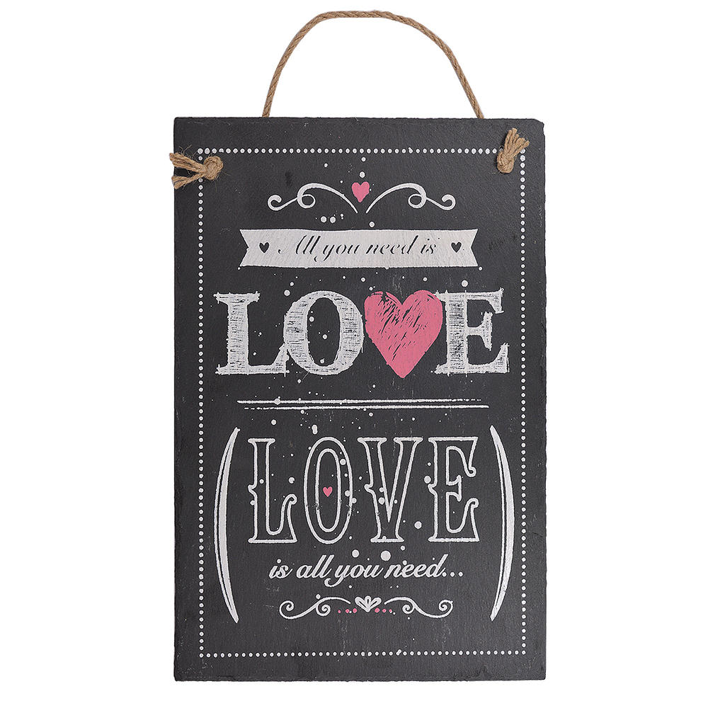 All You Need Is Love Hanging Slate Plaque