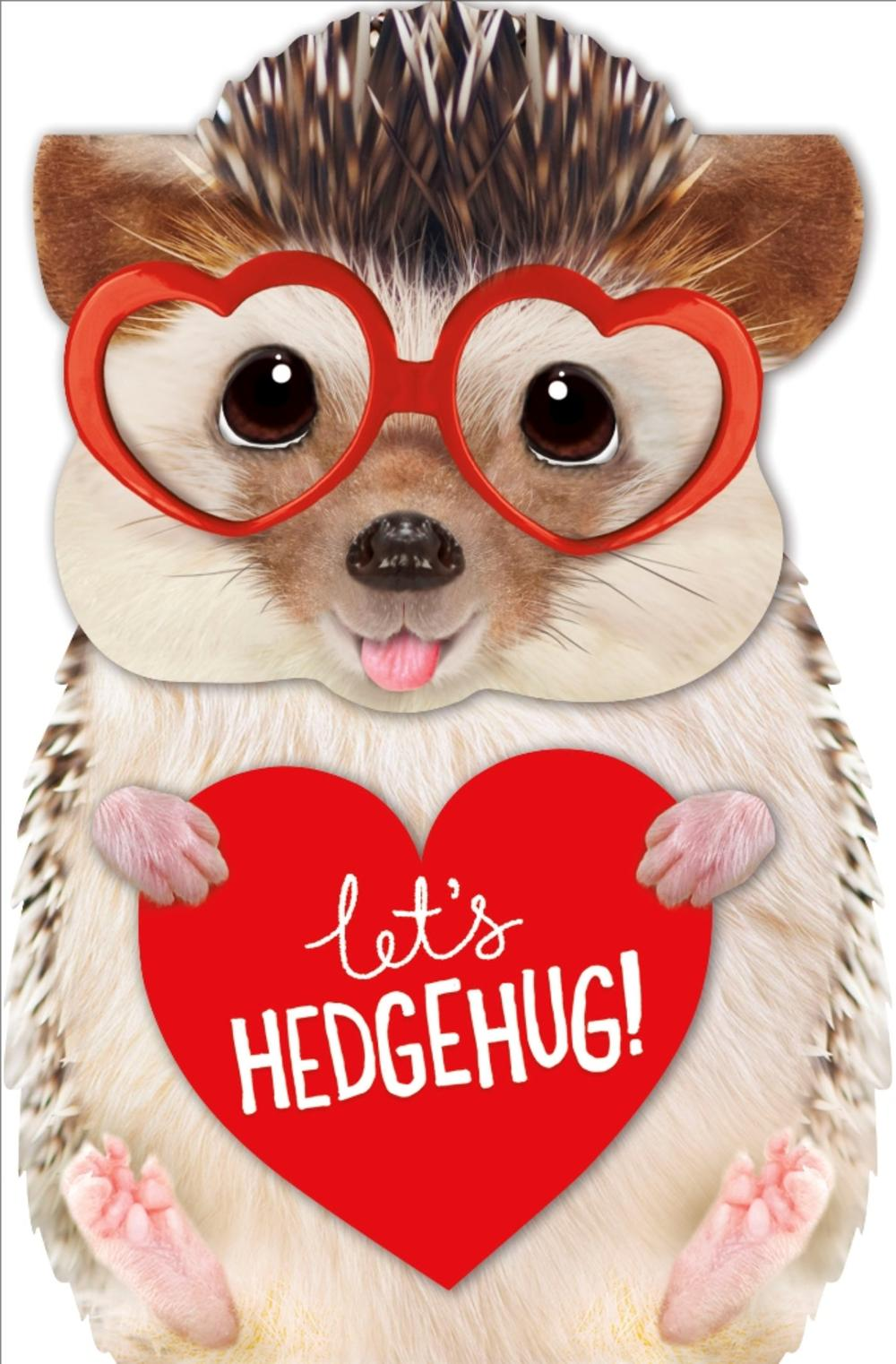 Let's Hedgehug 3D Hedgehog Valentine's Day Greeting Card
