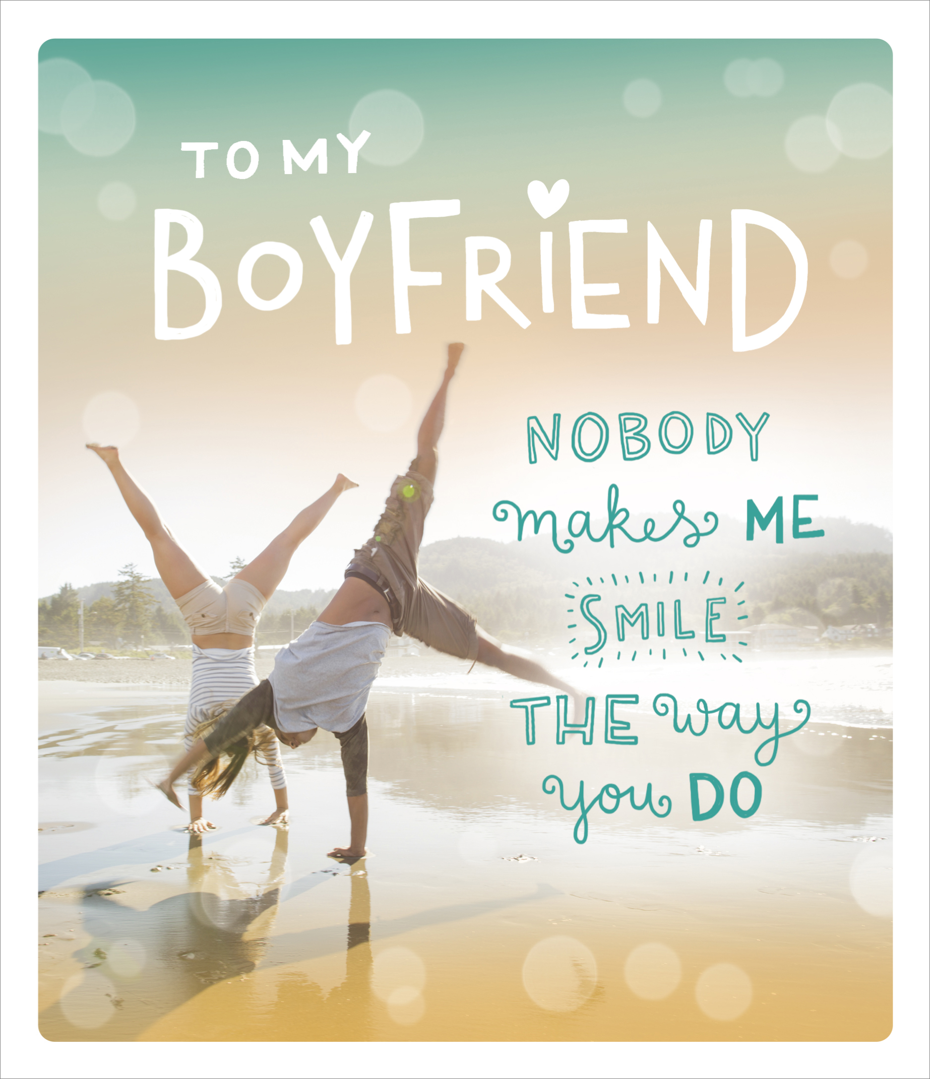 To My Boyfriend Embellished Valentines Day Greeting Card Cards
