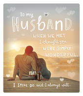To My Husband Embellished Valentine's Day Greeting Card