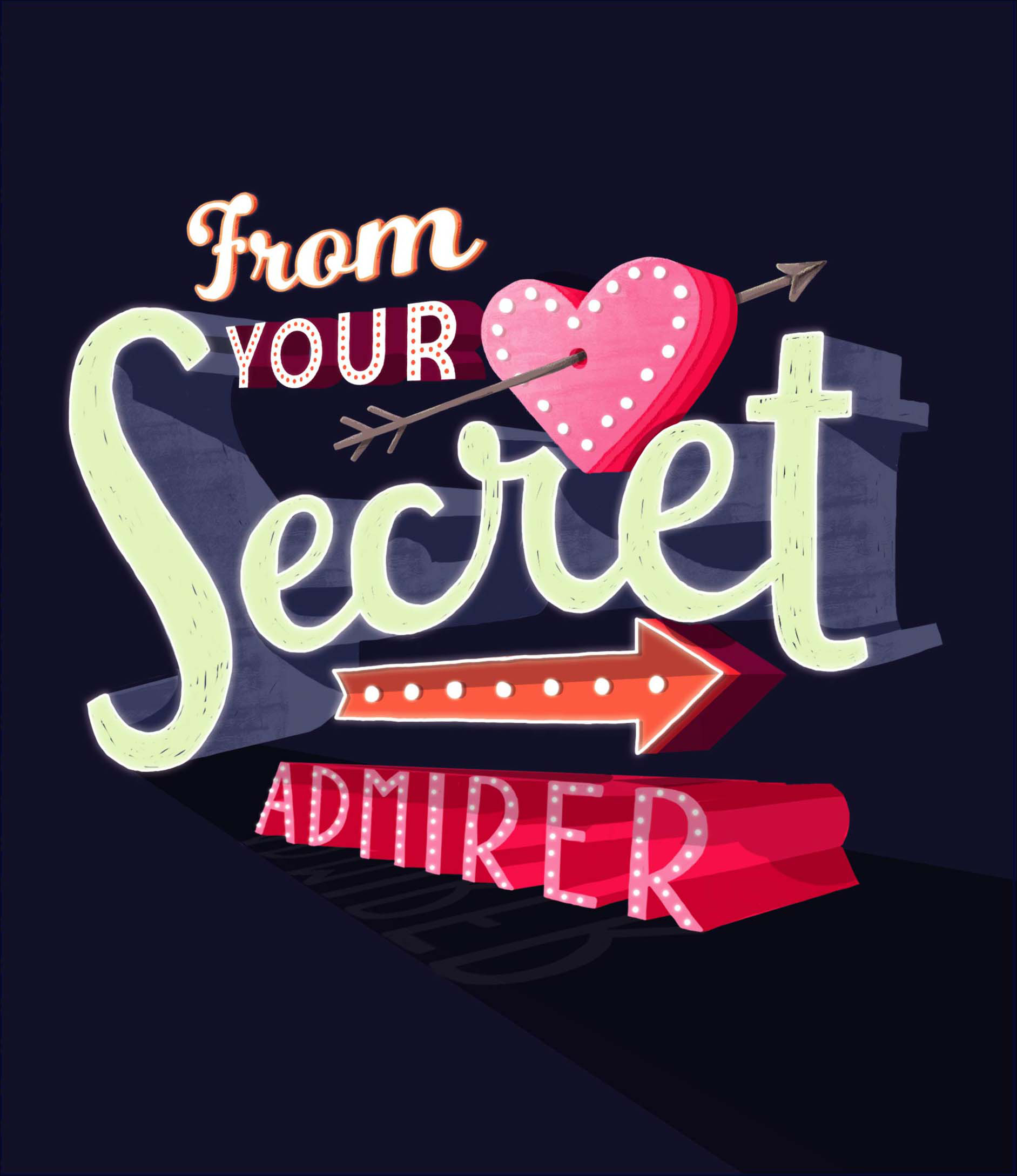 Sentinel From Your Secret Admirer Valentine's Day Greeting Card Valentine  Cards