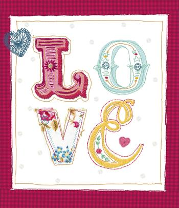 Love Beautifully Embellished Valentine's Day Greeting Card