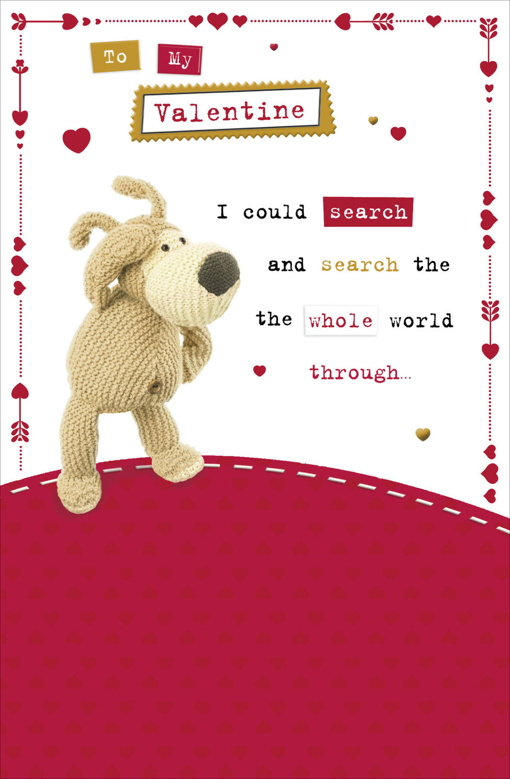 Boofle Search The Whole World Valentine's Day Card