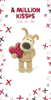 Boofle A Million Kisses Just For You Valentine's Day Card