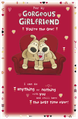 Boofle Gorgeous Girlfriend Valentine's Day Card