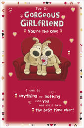 Boofle Gorgeous Girlfriend Valentine's Day Card