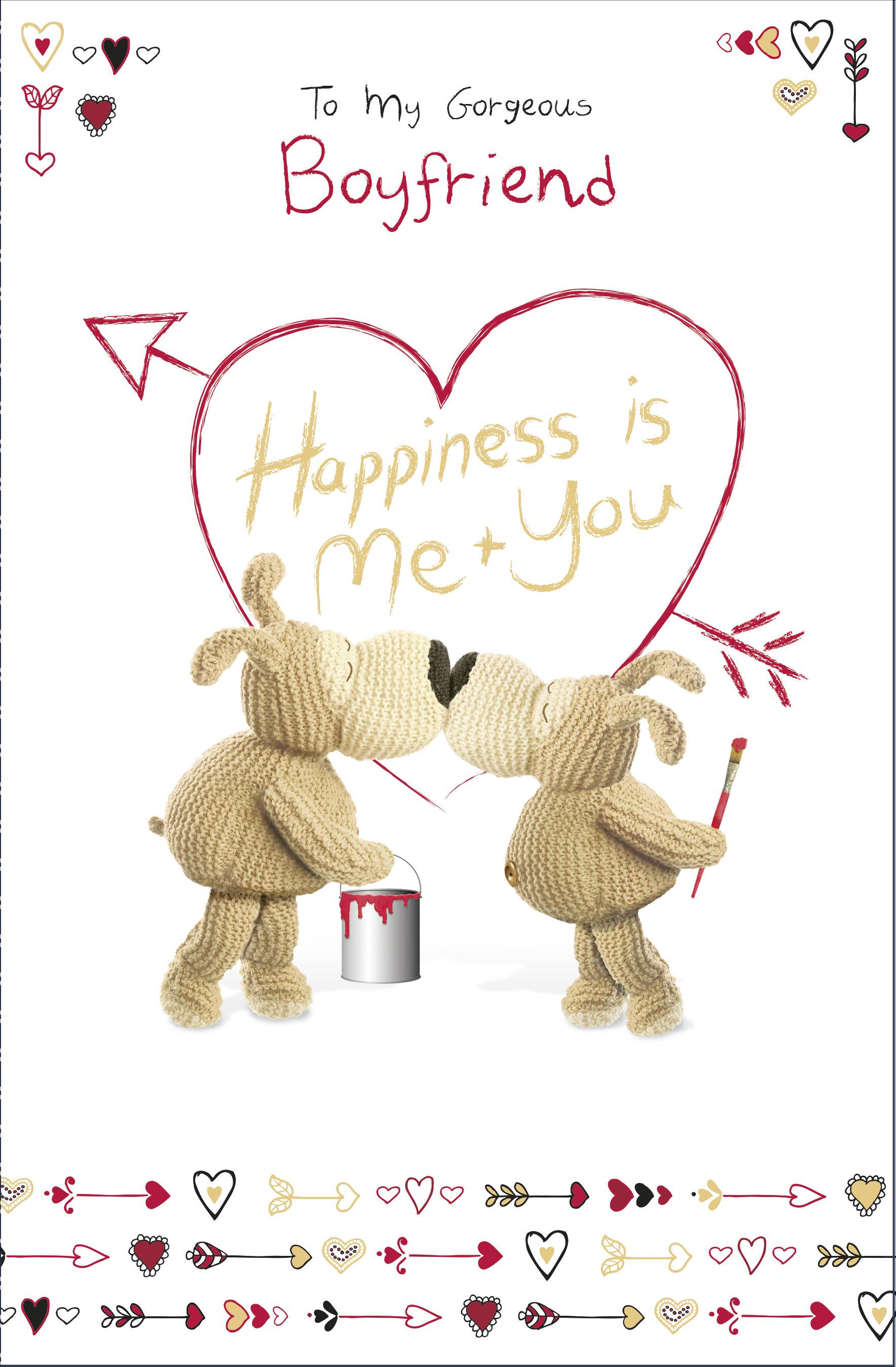 New Boyfriend Girlfriend Present Boofle I Love You Large Valentine Gift Bag..