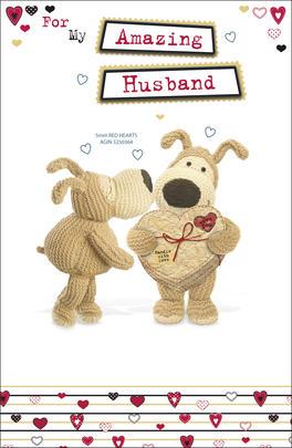 Boofle Amazing Husband Valentine's Day Card