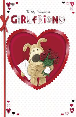 Boofle Wonderful Girlfriend Valentine's Day Card